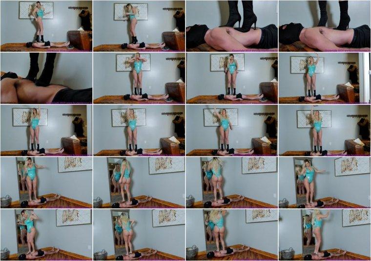 Brat Princess 2 – Princess Becky – Tall Girl tramples a Tiny Guy