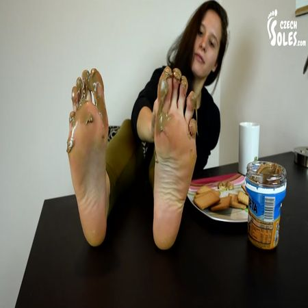 Czech Soles - Her Sexy Long Toes Dipped In Nougat Creme