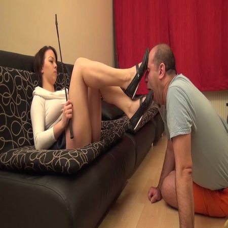 TRICIA - Snob Rich Brats Without Mercy - Clean My Flat Shoes, After My Walk - EXTREME Ballerinas Worship And Domination
