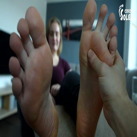 Czech Soles - BBW Huge Feet And Socks POV