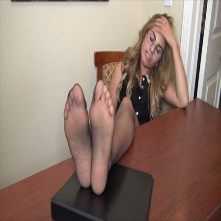"""The Tickle Room – Arlet the Secretary Tickled """"Sole Writing Punishment it IS!"""""""