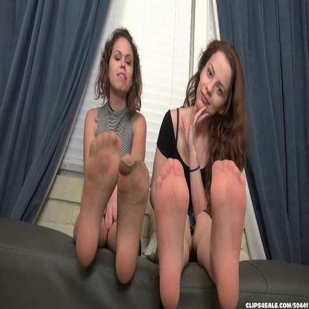 Bratty Babes Own You - Bailey, Luna - Bratty Sister Stinky Foot Humiliation