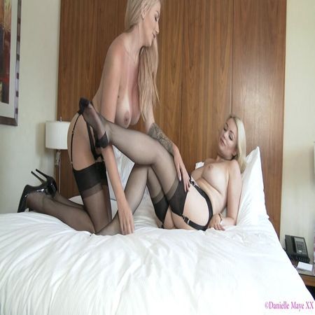 Penny Lee, Danielle Maye - Foot Worship In Fully Fashioned Stocking