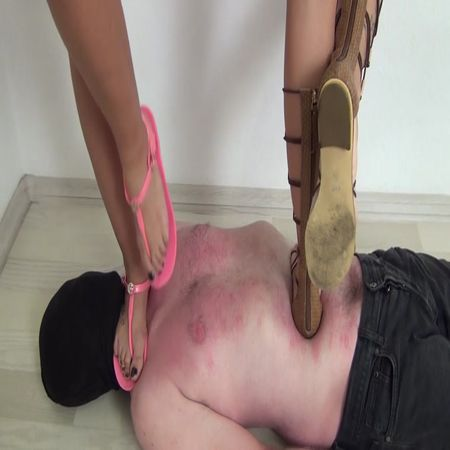 Emily and Sandy - Trampling in Sandals