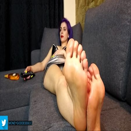 Moneygoddessscc - Ignore Oiled Bare Soles