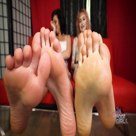Bratty Foot Girls - Amethyst Mars, Goddess Z - Sole Slut