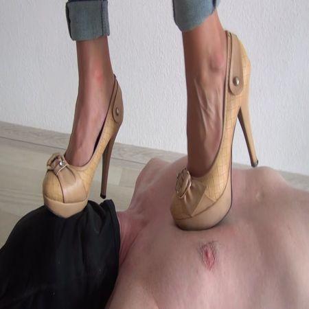 Foot Fetish Beauties - Candy trampling in high heels