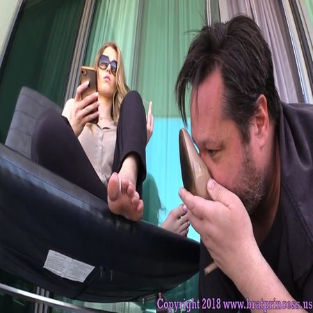 Brat Princess 2 - Princess Amber - Loser Licks Filthy Shoes To Earn Stinky Foot Worship