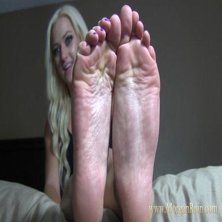 Morgan Rain - Worship My Feet Purple Toes