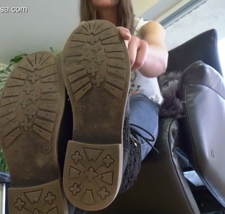 Madame Marissa - Slave Has To Clean My Shoes