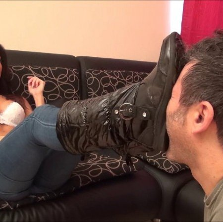 BLACKMAILED by BITCHES - OLIVIA - Bad Ass - CRUEL Streetwear Boot Worship, Bootgagging And Domination