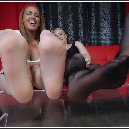Bratty Foot Girls - Megan Jones, Goddess Anat - Pantyhose Pervert