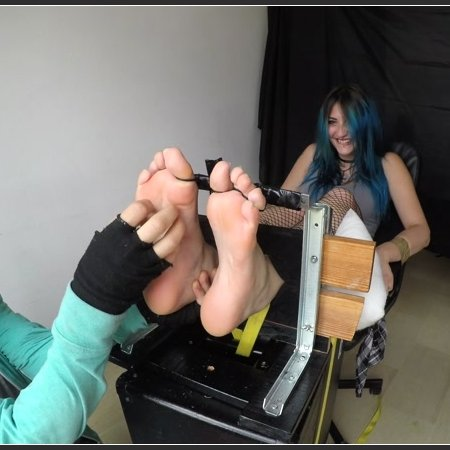 Hyper Ticklish Hailie - Feet In The Stocks - First Time