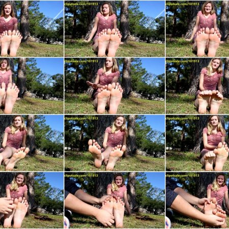 Random Sole Encounters - Conservative Nicole's Spontaneous Tickle Test and Sole Show