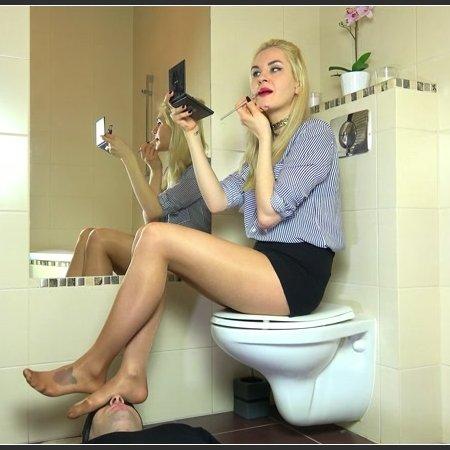 Olga - Make-up While Sitting On Toilet (Dominant Femine)
