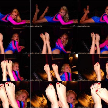 Odette Delacroix posing barefoot (California Beach Feet)