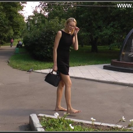 A blonde in a black dress. Part 4 (City Feet)