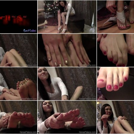 Karma Removes Her Shiny Sandals (Xanas Foot Fantasies)