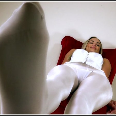 Mmmm I love My White Stockings, Don't you? (Goddess Platinum)