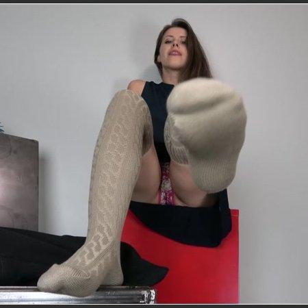 Beige Thigh High Socks (Miss Melissa)