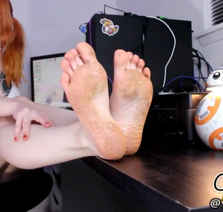 Carlie - Schoolgirl Dirty Foot Worship and CEI