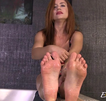 Goddess Ella Kross - Clean My Feet with Your Mouth and Cum Countdown