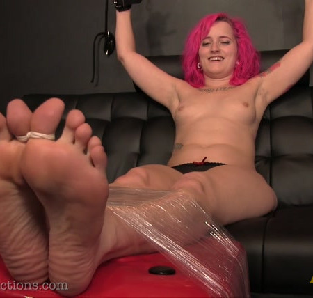 Ginary's Tickle Adventures - Miss Quinn Gets Her Bare Feet Tickled
