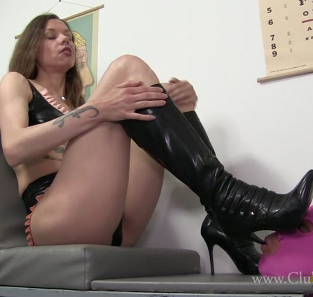 Mistress Bijou Steal - You Look Older Than Your Profile Pic - You're My Caged Boot Bitch