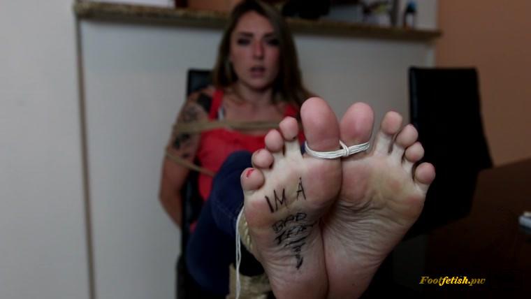 Ripped Nylon Feet Tickle