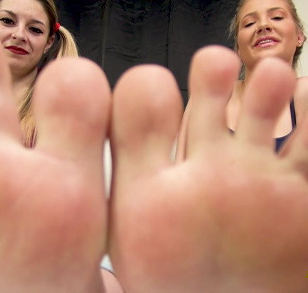 Bratty Foot Girls – Aubree and Maia Total Foot Humiliation