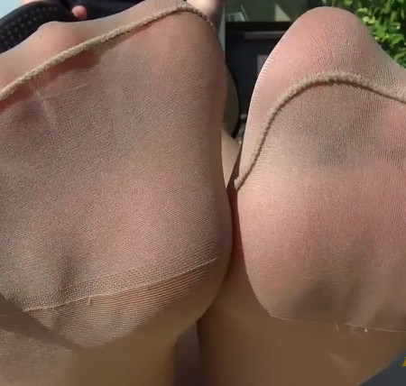 SWEATY NYLON FEET ON YOUR FACE