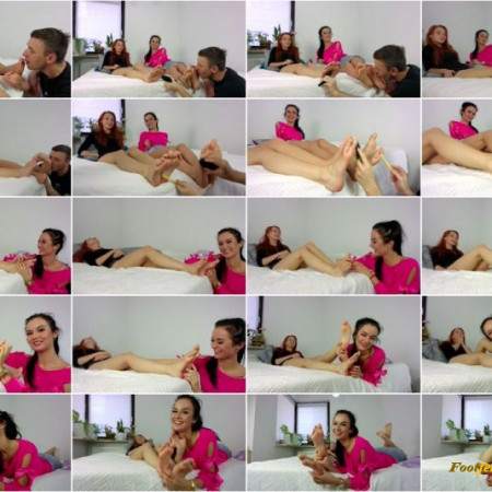 Polish Mistress – 2 Clips – Helena And Eliza Licking And Tickling Combinations – MIX