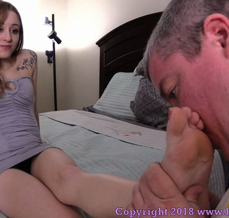 Brat Princess 2 - Princess Veronica - Bratty 18 Year Old Controls Step Father Though His Foot Fetish