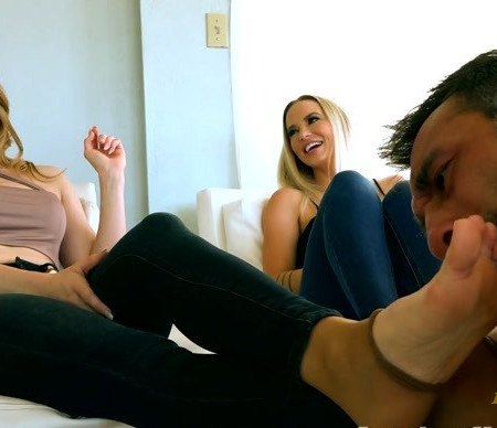 THE MEAN GIRLS - Goddess Platinum, Princess Amber - Family Foot Obsession