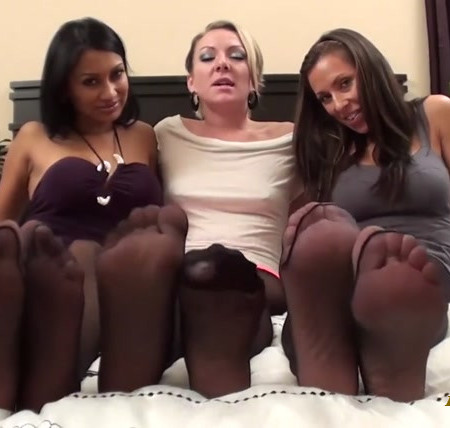 Pantyhose feet in your face