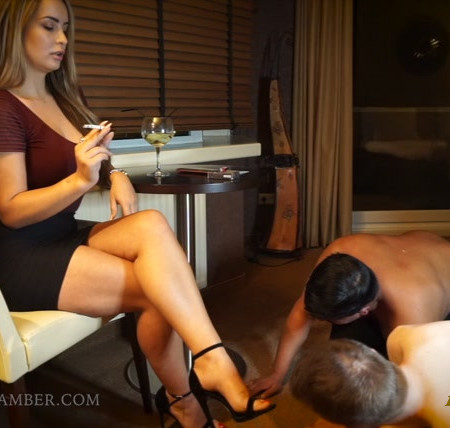 Goddess Amber – 2 bitches at My feet