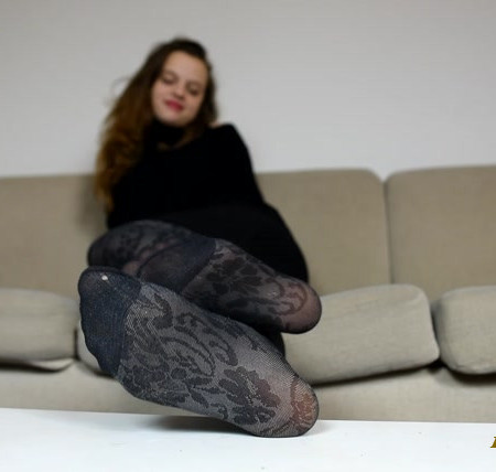 Czech Soles - Anna in her favorite worn pantyhose teasing you