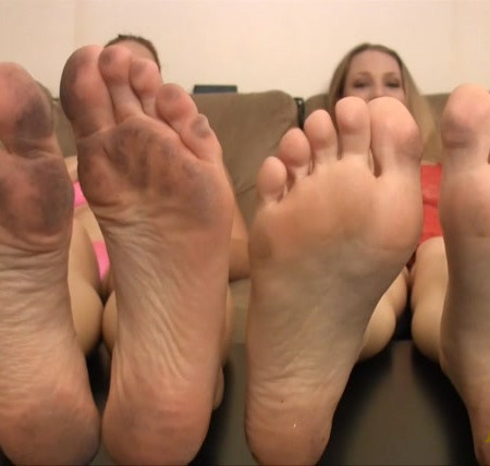 Bratty Foot Girls - Goddess Jolene Valkyrie, Sara Liz - Dirty Foot Licker