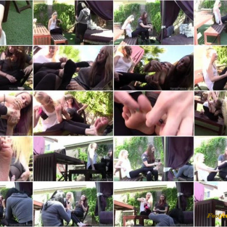 Xanas Foot Fantasies - Ali and Lanay's Blind Tickle Date