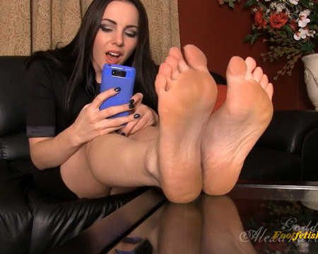 Goddess Alexandra Snow - Blackmailed for your Foot Fetish