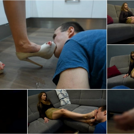 Mean Snobby Girl - Verbal And Shoe Humiliation Spitting On Loser - Part 2 [FullHD 1080P]