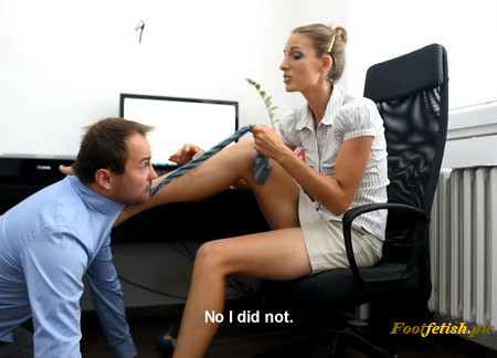 Office Foot Domination And Foot Smother - part 1
