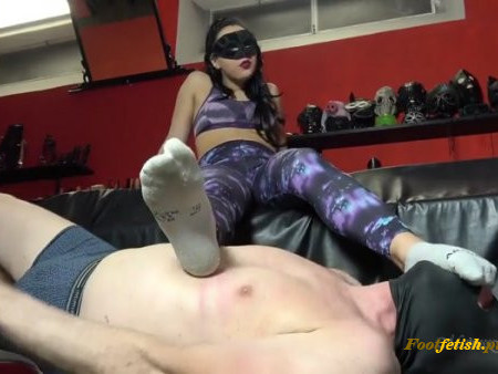 Mistress Gaia - Choking Newbie With Smelly Socks (720 HD) - Foot Smelling