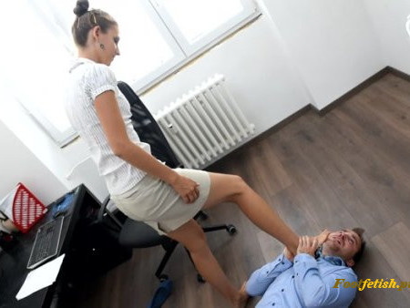Jack, Eliška  - Office Foot Domination And Foot Smother – part 1
