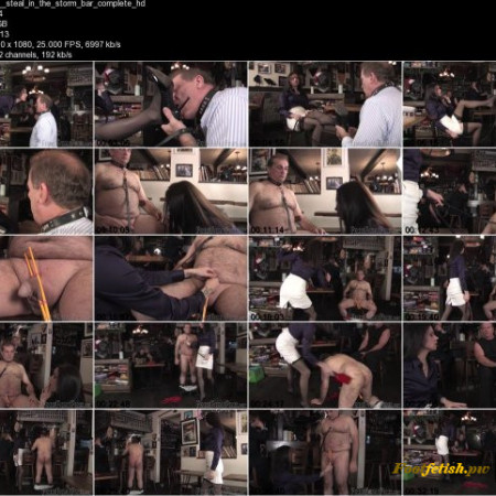 Femme Fatale Films - Mistress Eleise de Lacy, Ms Bijou Steal - Steal in The Storm Bar - Complete Film