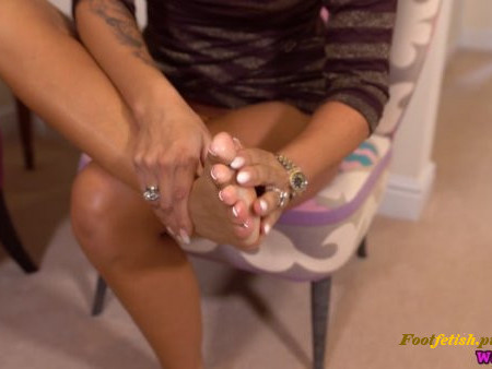 WankItNow - Natalia Forrest - Naughty Foot Fun