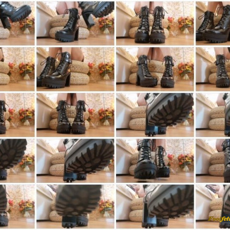 Goddess Natalie – Boots ignore with pussy flashing
