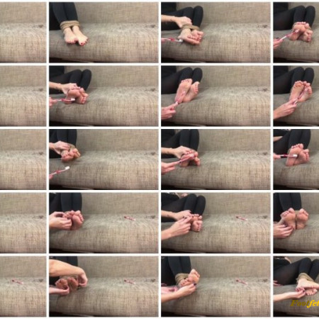 Doll House Studio – Toothbrush Rope Bondage Barefoot Tickling