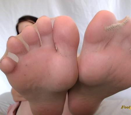 Natalies socks - Pantyhose Foot Play