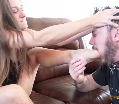 Bratty Foot Girls - Cassidy Klein's Foot gagging Bitch